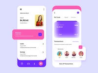 Banking Mobile Application-UX/UI Design topdesigner typography colours banking budget finance branding productdesign webdesign illustration hira mobile ui dubai designer concept minimal creative adobe xd mobile app design 2020 clean