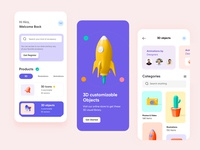 Online Studio Mobile App- UX/UI Design shopping icons branding mobile prototyping webdesign productdesign 3d tran illustration hira mobile ui dubai designer concept minimal creative adobe xd mobile app design 2020 clean