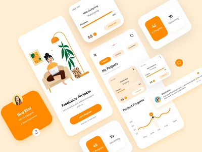 Task Management Mobile app-UX/UI Design taskmangement populardesigner topdesigner illustrations mobile typography art typography branding uxui design uxui webdesign illustration mobile ui dubai designer concept minimal creative adobe xd design 2020 clean