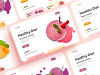 Desserts Landing page-UX/UI Design website design website webdesign healthy sweets uxui mobileui productdesign branding illustration mobile ui concept dubai designer mobile app minimal creative adobe xd design 2020 clean