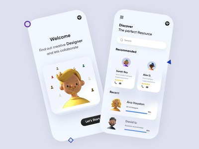 Job Finder Mobile Application-UX/UI Design 3d applicantapp jobapp mobileapp branding and identity mobileui branding illustration mobile ui concept dubai designer mobile app minimal creative adobe xd design 2020 clean