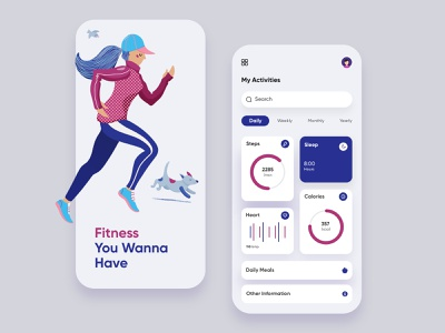 Fitness Mobile Application-UX/UI Design gym trendymobileapp mobileux fitnessapp latestmobileui mobiledesign uiux mobileui mobileapp mobile illustration mobile ui concept dubai designer mobile app minimal creative adobe xd design 2020 clean