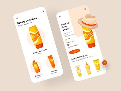 Beauty products Mobile Application-UX/UI Design mobile app ui design minimal mobile uiux design mobileapps mobile ui mobileapp mobileappdesign app interface ui uiux ux