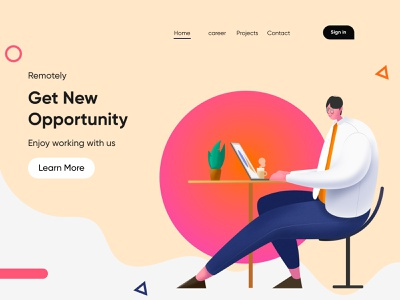 Job Portal Landing Page-UX/UI Design website landingpage webdesigns interface web design ui webdesign homepage illustrattion uidesign