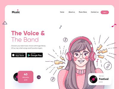 Music Store Landing Page-UX/UI Design mobile app ui design mobileapps mobileui mobileapp mobileappdesign app interface uiux uiuxdesign ui ux