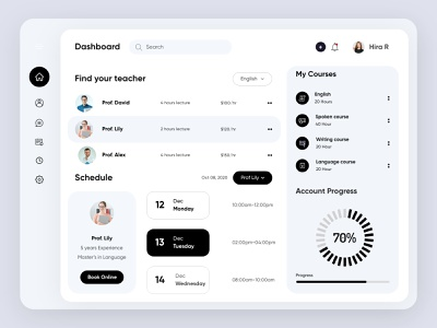 Education Dashboard-UX/UI Design concept minimal education onlinelearning platform design admin app dashboad interface ui uiux ux