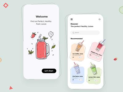 Healthy Food Mobile App-UX/UI Design mobile app ui design minimal mobile ux ui design ux ui designs mobile apps mobile ui mobileui mobileapp mobileappdesign app interface uiux ui ux