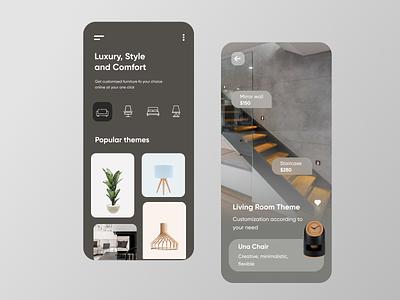 Home Theme Mobile Application-UX/UI Design mobile mobile apps app mobile ui ux uiux ui interface mobileappdesign mobile app ux ui design minimal ui design