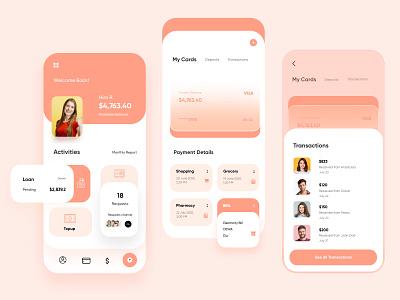 Finance Mobile App UX UI Design ui design minimal ux ui design mobileappdesign interface ui uiux ux mobile ui app mobile app mobile