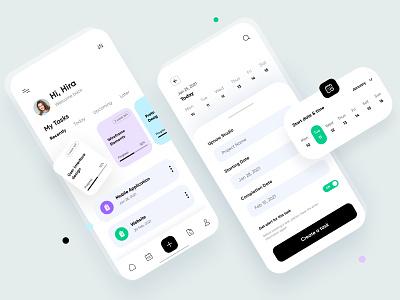 Task Management App-UX/UI Design task mangement mobile mobile app app mobile ui ux uiux ui interface mobileappdesign ux ui design minimal ui design