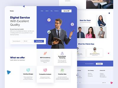 Digital Agency Website design website ui uidesign illustration homepage webdesign web interface landing page