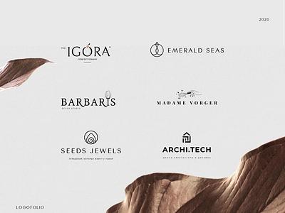 Logofolio minimalistic elegant black gold logofolio logo design logomaker identity logotype logo branding