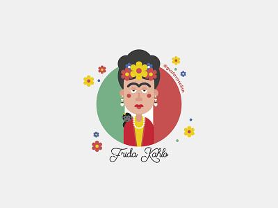 Frida Kahlo cdmx vector venezuela characters flat illustrator illustraion flat design mexico frida kahlo illustration