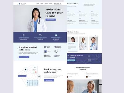 Medim popular doctor hospital web branding minimal ui ux design app