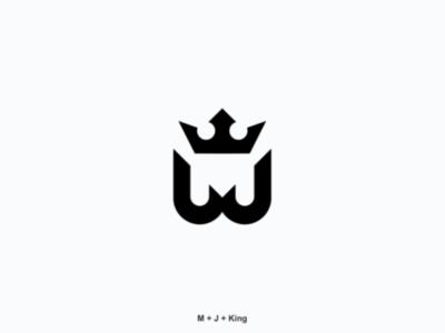 M+J business company draw logo
