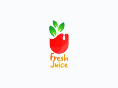 Juice brand drawing logo
