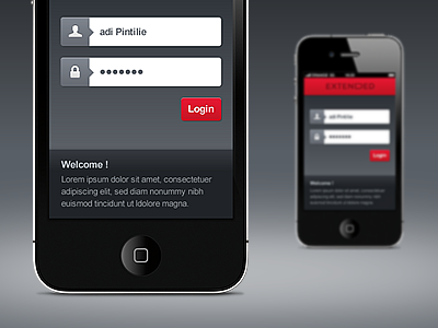 Mobile login mobile login button forms iphone app adobe fireworks mobile app iphone app ui ecommerce app extended ecommerce