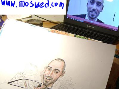 watercolor cartoon in progress artist watercolor illustration cartoon