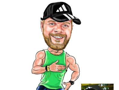 zumba man digitalart artist caricature caricatura cartoon illustration cartoon