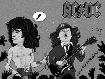 AC/DC digital illustration digital art cartoonist digitalart illustration cartoon illustration artwork artist caricature cartoon