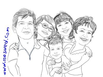 Family portrait portrait caricatura digital art scetch digitalart illustration cartoon illustration artwork caricature artist cartoon