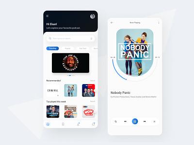Podcast App Design modern figma uidesign podcast uiux minimal design creative design branding app design app mobile app ui