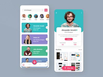 Designer Finding App ux uiux uidesign ui mobile app minimal figma design app design app