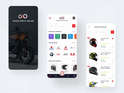 Motorcycle Parts & Spares Marketplace App motorcyle bike creative design uiux uidesign ui mobile app figma design app design app