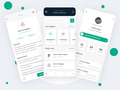 Job Finding App Concept ui  ux google search job application creative design figma ux uiux uidesign ui mobile app design app design app