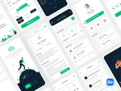 Chakri - Job Finding App Ui Kits behance modern creative design 2021 trend minimal ux figma uiux uidesign ui mobile app design app design app