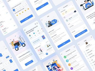 Dhopakhana - Laundry App Ui Kits booking app minimal ux uiux uidesign ui design mobile app app design app