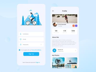 Shredseek mountain bikers UI branding uiux uidesign mobile app app design app ui