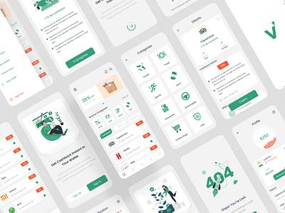 Voplay - Cashback app ui kit uidesign uiux mobile app app design ux branding ui
