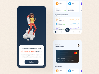 Cryptocurrency Trading App UI bitcoin cryptocurrency crypto branding design uidesign app uiux mobile app app design ui
