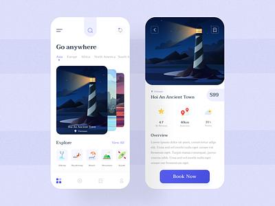 Travel App UI uidesign uiux mobile app app design ui