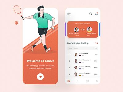 Tennis App UI app uidesign uiux mobile app app design ui