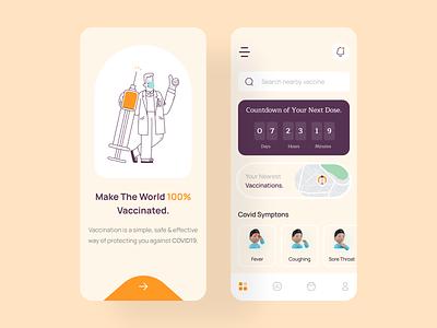 Vaccination Mobile app UI design app uidesign uiux mobile app app design ui