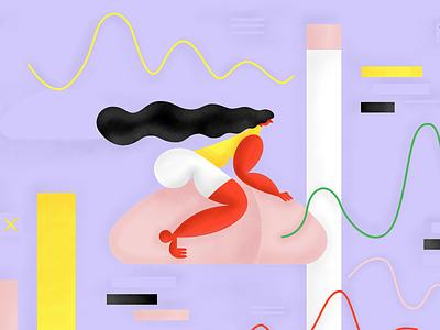 Mouse ride vector design illustration texture composition art