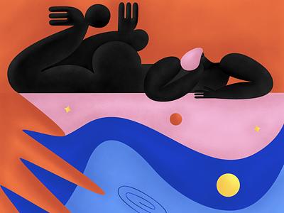 Miracle illusion ui flat logo design art illustrator vector composition texture illustration