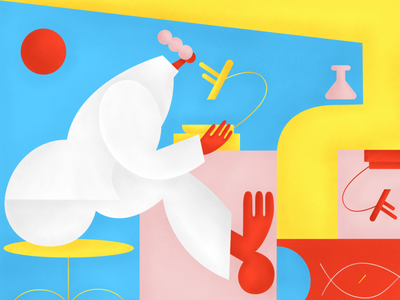 Laboratory ui logo texture design art illustrator flat vector composition illustration
