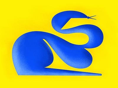 A snake ui logo design art illustrator flat vector composition texture illustration