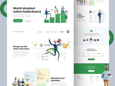 Leaderboard Landing Page ui  ux landingpage green webpage leaderboard