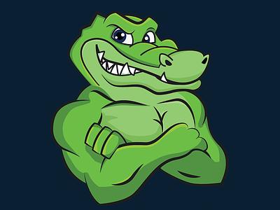 Tuff Gator swamp florida gainesville vector alligator gator illustration