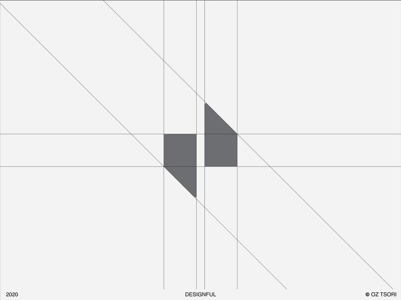Designful Logo - Grid logo mark logotype yellow logo logos black yellow branding design brand identity brand design brand 2d icon illustration vector minimal art illustrator design logo branding