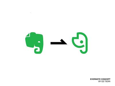 Evernote icon vector ui illustration art illustrator minimal design branding logo elephant logo elephant evernote