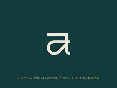 A - Metanoia font icon vector illustration art illustrator minimal design branding logo lettermark letter a