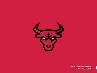 Chicago Bulls 2d icon vector illustration art illustrator minimal design branding logo bull logo bull