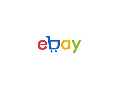 ebay brand 2d icon illustration art vector illustrator minimal design branding logo ebay