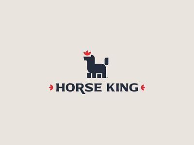 Horse King illustration vector typography modern simple minimal branding logo design horse logo animal logo