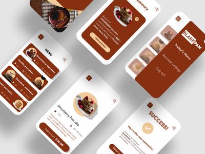 BLARKPAN APP restaurant app pancakes app sample ui designer newbie uiux design ui design
